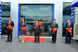 Ribbon Cutting Ceremony (L to R) - Mr Patrick Ling, Ms Audrey Byun, Mr Dennis Ho, Mr Lau Yit Mun and Mr Choon Yew Yoke