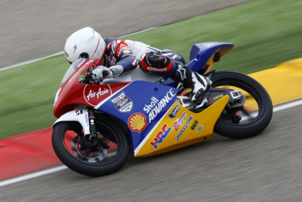 One of the SAATC riders in action during the test in Aragon, Spain