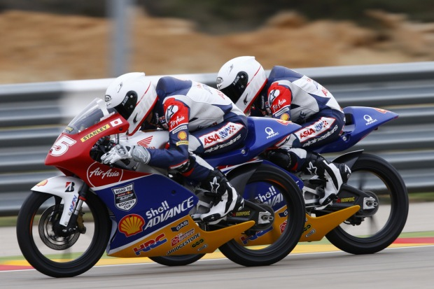 Two riders in action in Spain