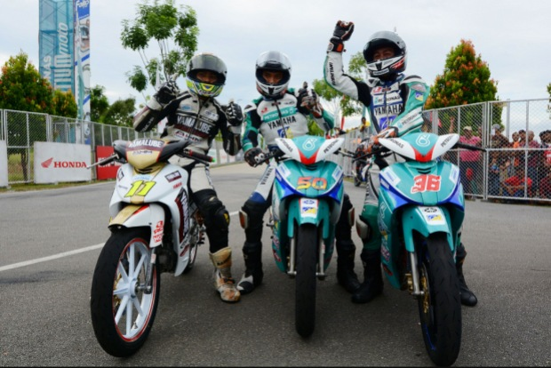 from left, Ahmad Fazrul, Afif and Affendi