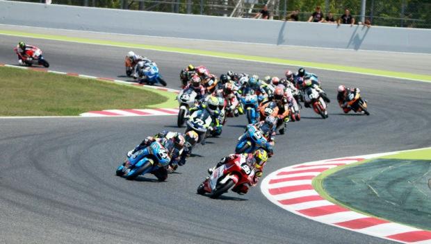 Moto3 race at Catalunya